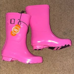 Pink Rain Boots- New